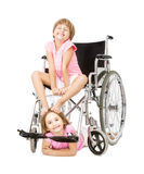 Handicap service in a funny image Stock Image