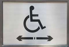 Handicap Sign. Sign indicating accessibility for the disabled Royalty Free Stock Images