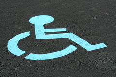 Handicap sign. A Handicap sign painted on a parking space Stock Photo