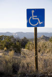 Handicap Sign. In the desert southwest Stock Image