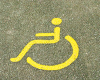 Handicap sign. Areas accessible to phsically challenged people Stock Images