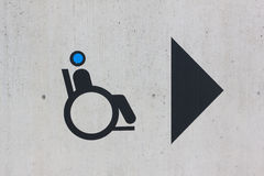 Handicap sign. Disability sign on grunge background Royalty Free Stock Photo