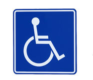 Handicap Sign stock photos