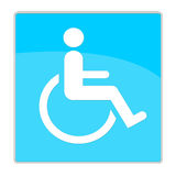 Handicap sign. Blue handicap sign isolated on white background Stock Photography