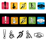 Handicap sign illustration Stock Photography