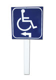 Handicap sign isolated. A handicap sign in isolated Royalty Free Stock Photography