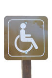 Handicap sign isolated on white Royalty Free Stock Images
