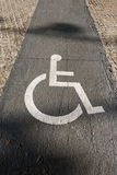 Handicap Sign on Paving - Barcelona Spain Royalty Free Stock Image