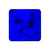 Handicap sign for special toilet Stock Photo
