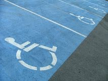 Handicap signs Stock Photo