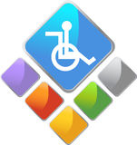 Handicap Square Icon Stock Photos