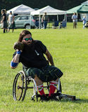 Handicap Stone Putter – Highland Games, Salem, VA. Salem, VA – August 27th; Handicap Stone Putter competing at the 2016 Green Hill Highland Games located Stock Photo