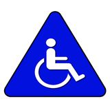 Handicap Symbol. Handicap sign isolated on blue - handicap illustration Royalty Free Stock Photos