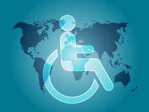 Handicap symbol. Illustration icon of wheelchair clipart Stock Image