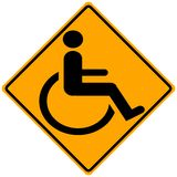 Handicap Symbol. Handicap sign isolated on yellow - handicap illustration Royalty Free Stock Photography