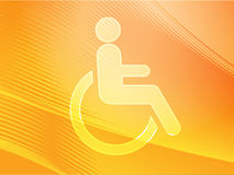 Handicap symbol. Illustration icon of wheelchair clipart Royalty Free Stock Images