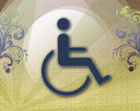 Handicap symbol of accessibility,retro background Stock Photos