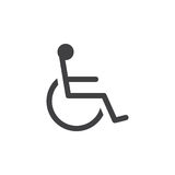 Handicap symbol icon , Wheelchair solid logo illustration, Royalty Free Stock Images