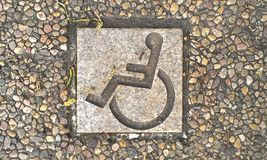 Handicap tile in ground Royalty Free Stock Photos