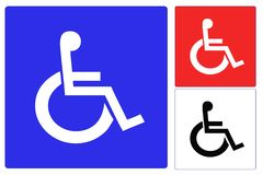 Handicap wheelchair Stock Photos