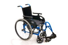handicaped isolated wheelchair 库存照片