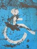 Handicaped Krankenhauspunkt Stockbild