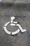 Handicaped parking logo Stock Image