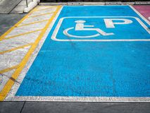 Handicapparkeren royalty-vrije stock afbeeldingen