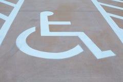Handicapparkeren Stock Fotografie