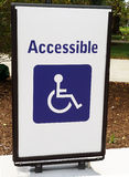 Handicapped Access Sign. Handicapped  Sign for easy access to the museum Stock Photos