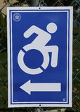 Handicapped access sign at the voting site in New York Royalty Free Stock Images