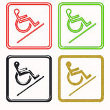 Handicapped access signs Stock Images