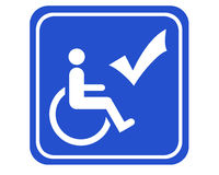 Handicapped accessible Royalty Free Stock Image
