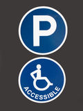Handicapped Accessible Parking Royalty Free Stock Photo