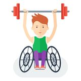 Handicapped athlete with barbell Royalty Free Stock Photos