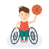 Handicapped athlete basketball Stock Photography