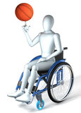 Handicapped basketball player Stock Images