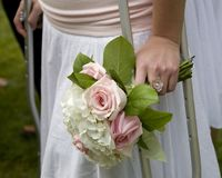 Handicapped bridesmaid Royalty Free Stock Images