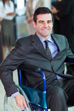 Handicapped business executive Royalty Free Stock Images