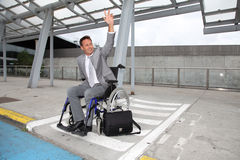 Handicapped businessman Royalty Free Stock Photos
