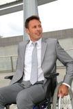 Handicapped businessman Stock Photo