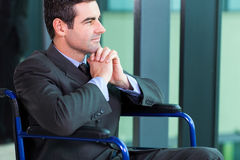 Handicapped businessman Stock Photo