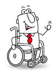 Handicapped businessman. A handicapped businessman in a Wheelchair Royalty Free Stock Image