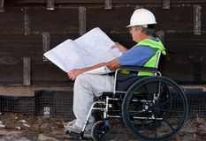 Handicapped contractor stock images