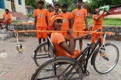 Handicapped Devotee Stock Photo