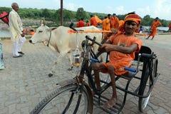 Handicapped Devotee Stock Photography