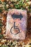 Handicapped Direction Sign. Royalty Free Stock Photo