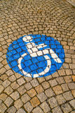 Handicapped - disabled parking sign royalty free stock images