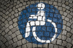 Handicapped - disabled parking sign royalty free stock photography