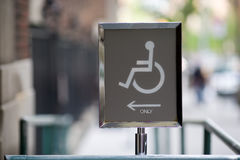 Handicapped Entrance Stock Image